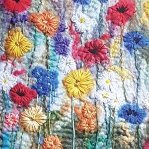 Field of Flowers greetings card