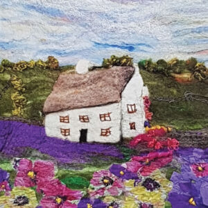 Lavender Cottage greetings card