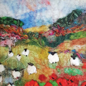 Poppy Pastures greetings card