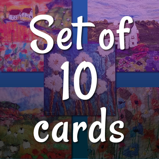 Set of 10 greetings cards