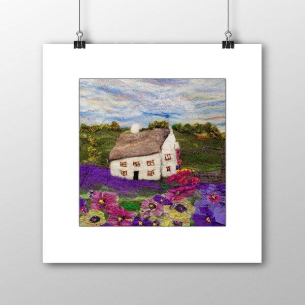 Lavender Cottage signed print