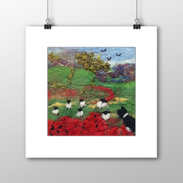 Minding the Flock signed print