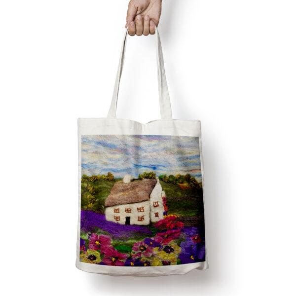 Lavender Cottage tote bag