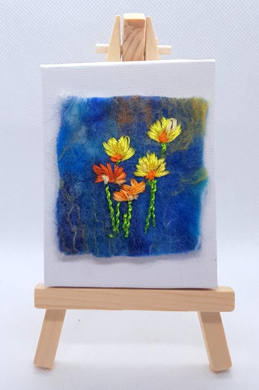 Flowers Mini Miniature Easel