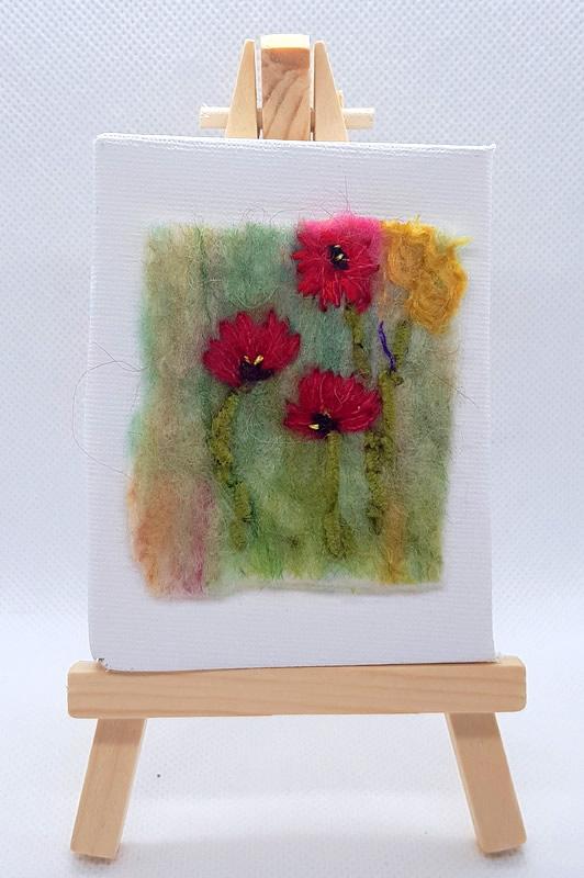 Poppies Mini Miniature Easel
